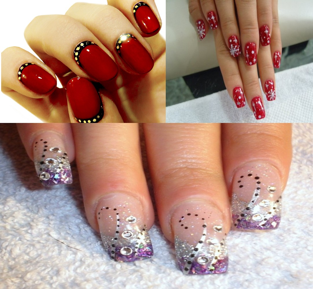 Nail art hot and trendy fashion buzingb let those nails sparkle and shine with some glitter and stones prinsesfo Images